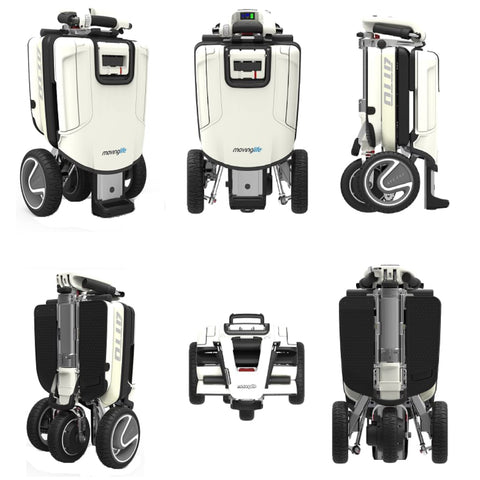 Moving Life Atto Folding Scooter TE-AT01-100-B2-0 Shown In Different Modes From Different Angles