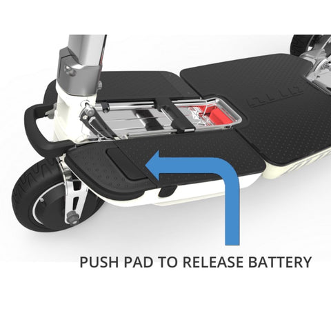 Moving Life Atto Folding Scooter TE-AT01-100-B2-0 Push Pad to Release Battery