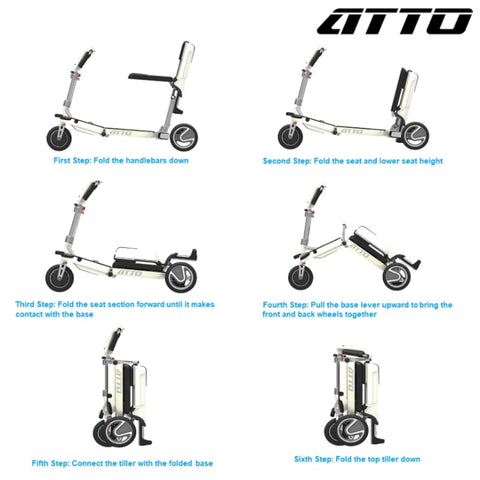 Moving Life Atto Folding Scooter TE-AT01-100-B2-0 Instructions for Use