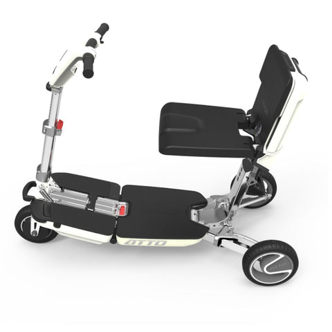 Moving Life Atto Folding Scooter TE-AT01-100-B2-0 Left Side View With No Seat Cushion