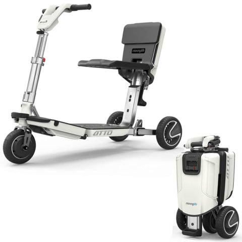 Moving Life Atto Folding Scooter TE-AT01-100-B2-0 Shown Open And Folded
