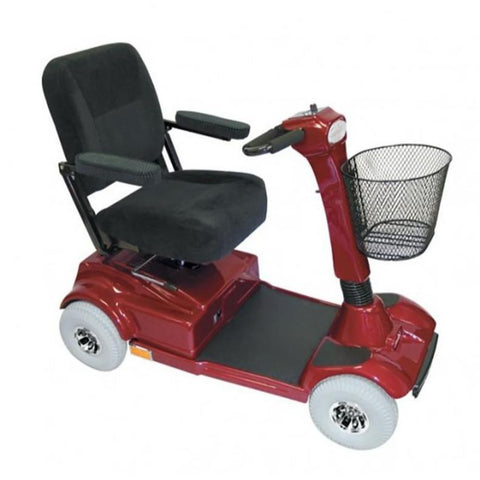 Image of PaceSaver Eclipse Atlas 4-Wheel Bariatric Scooter 15073 In Red With Black Seat And Red Details