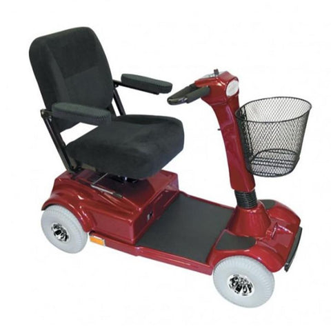 PaceSaver Eclipse Atlas 5 4-Wheel Bariatric Scooter 15087 In Red With Black Seat And Large Gray Tires