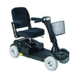 PaceSaver Eclipse Premier 4-Wheel Bariatric Scooter 15072 In Black With Black Fabric Seat And Large Rubber Tires