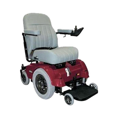 Image of PaceSaver Scout 4 Post With Suspension Bariatric Power Chair 81140 In Red Without Headrest