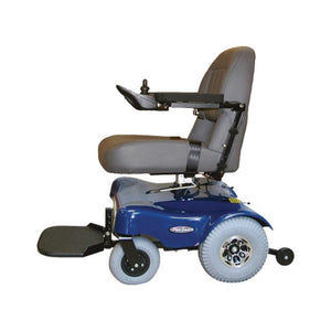 PaceSaver Scout M1 Convertible 350 Power Chair 81855 In Blue Left Side View