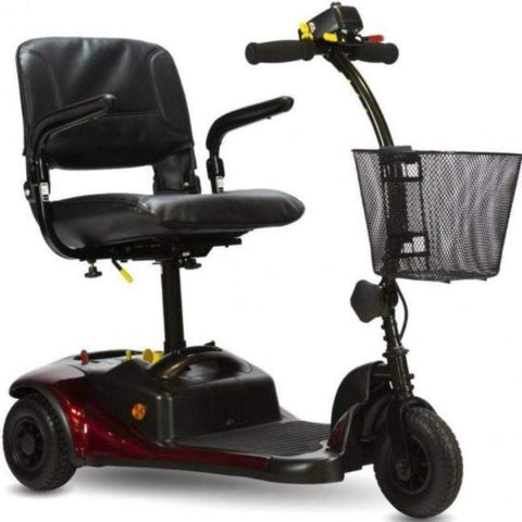Shoprider Dasher 3 Portable 3 Wheel Mobility Scooter GK83 With Front Basket And Battery Under Seat Post