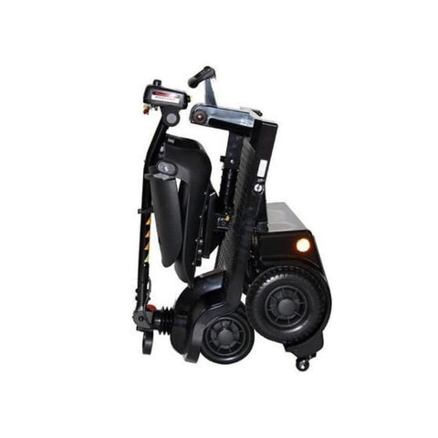 Image of Shoprider Echo Folding 4 Wheel Mobility Scooter FS777 In Black Folded For Travel