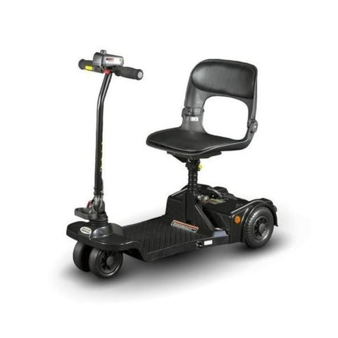 Shoprider Echo Folding 4 Wheel Mobility Scooter FS777 In Black Unfolded For Use