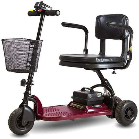 Image of Shoprider Echo Light Weight 3 Wheel Folding Mobility Scooter SL73 With Battery Under Seat Post