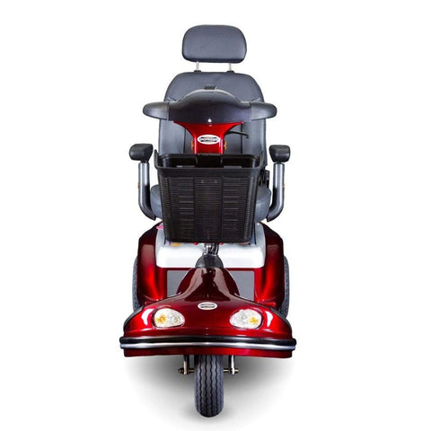 Image of Shoprider Enduro XL3+ Heavy Duty 3 Wheel Bariatric Mobility Scooter 778XLSBN Front View Of Front Lights And Basket