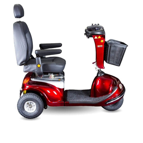 Image of Shoprider Enduro XL3+ Heavy Duty 3 Wheel Bariatric Mobility Scooter 778XLSBN Right Side View Of Carpeted Footrest Area