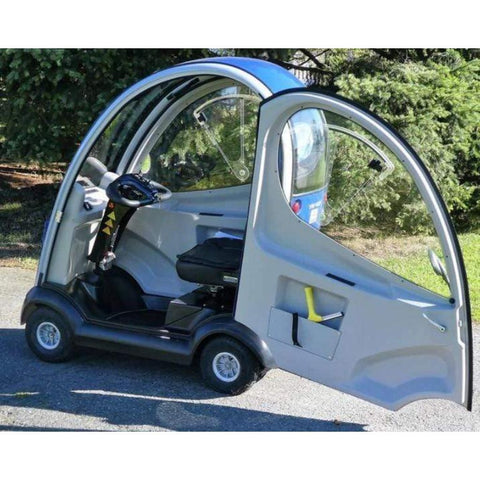 Image of Shoprider Flagship 4 Wheel Cabin Mobility Scooter 889-XLSN With Door Open