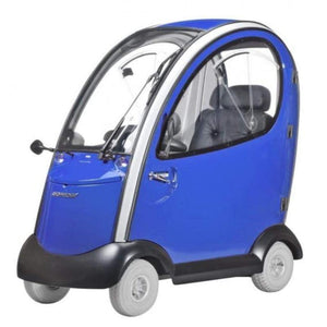 Shoprider Flagship 4 Wheel Cabin Mobility Scooter 889-XLSN In Blue