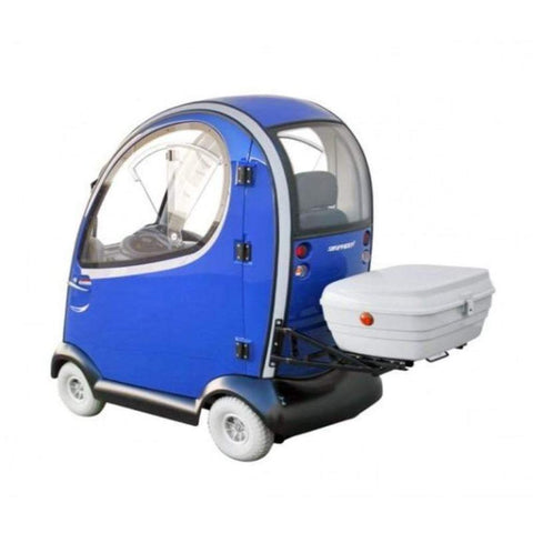 Image of Shoprider Flagship 4 Wheel Cabin Mobility Scooter 889-XLSN With Cargo Rack Attached (Separate)
