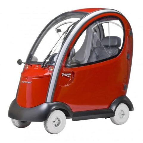 Image of Shoprider Flagship 4 Wheel Cabin Mobility Scooter 889-XLSN In Red
