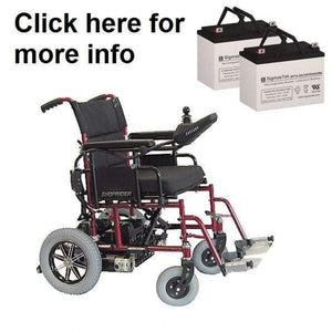 Shoprider Folding Power Chair FPC Replacement Battery (2 Batteries) SP12-35
