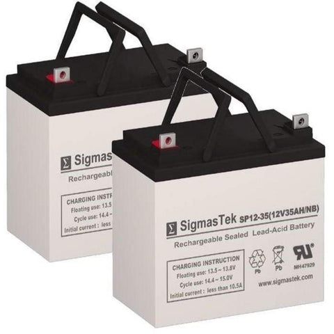 Image of Shoprider Folding Power Chair FPC Replacement Battery (2 Batteries) SP12-35