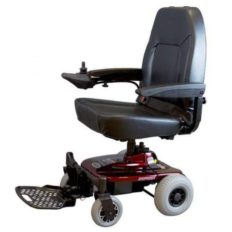 Image of Shoprider Jimmie Captain Seat Travel Power Chair UL8WPBS With Headrest Removed
