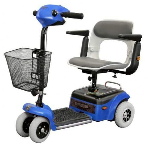 Image of Shoprider Scootie 4 Wheel Mobility Scooter TE-787NA In Blue With Front Basket