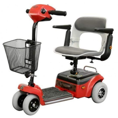 Image of Shoprider Scootie 4 Wheel Mobility Scooter TE-787NA In Red With Front Basket