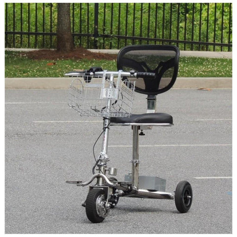 Image of SmartScoot Lightweight Foldable Mobility Scooter S1200 Shown In Parking Lot