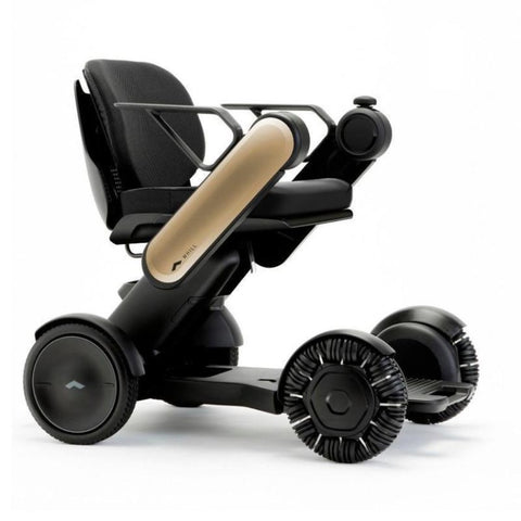 Image of WHILL Model Ci Travel/Portable Power Wheelchair 210-06874 In Gold Right Side View