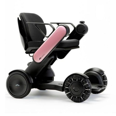 Image of WHILL Model Ci Travel/Portable Power Wheelchair 210-06874 In Pink Right Side View