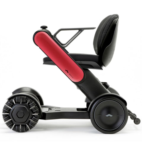Image of WHILL Model Ci Travel/Portable Power Wheelchair 210-06874 In Red Left Side View