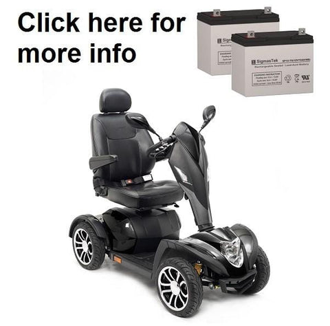 Image of Drive Medical Cobra GT4 Scooter Replacement Battery (2 Batteries) SP12-75