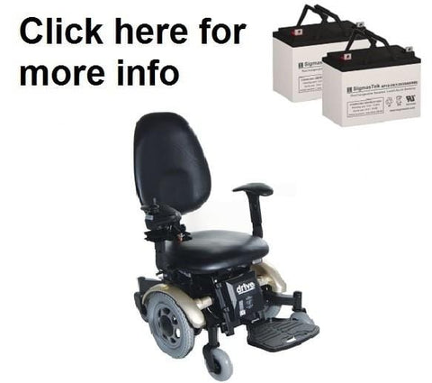 Image of Drive Medical Denali Power Wheelchair Replacement Battery (2 Batteries)