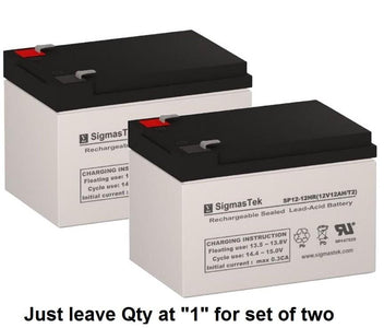 EV Rider CityCruzer Scooter Battery (2 Batteries) SP12-12