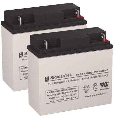 Image of Afikim Caddy Scooter Battery (2 Batteries) SP12-18