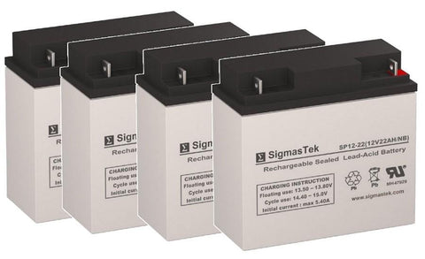 Image of EWheels EW-11 Scooter Battery (4 Batteries) SP12-22
