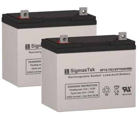 Image of Afikim Afiscooter Model S Battery (2 Batteries) SP12-75