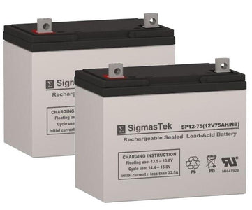 Afikim Afiscooter Model S Battery (2 Batteries) SP12-75