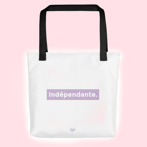 Tote bag Indépendante. Silver Manner.