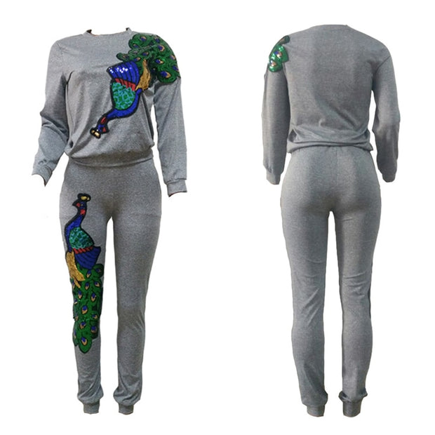 Peacock Pattern Suit
