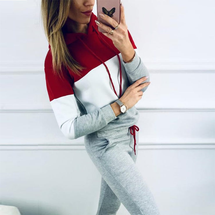 Gray Casual Sweatsuit