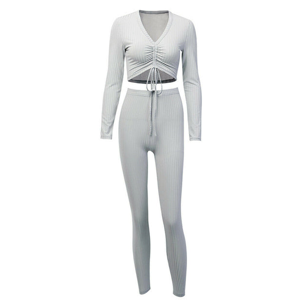 Knit Two Piece Lounge Wear