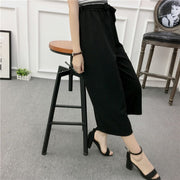 Jet Black Wide Leg Pants