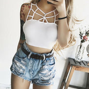 Elegant Sleeveless Crop Top