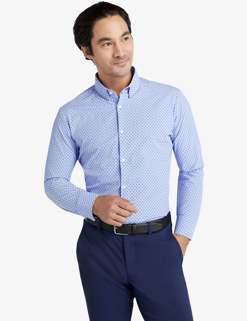 Mizzen+Main Leeward Floral Stripe Print Trim Fit