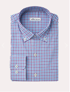 Peter Millar Sport Shirt Light Blue Plaid