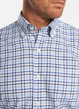 Load image into Gallery viewer, Peter Millar Sport Shirt - Blue and Gray Plaid