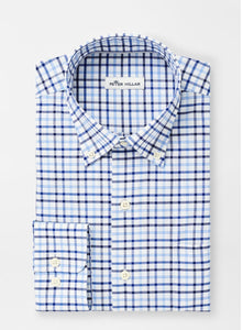 Peter Millar Sport Shirt - Blue and Gray Plaid
