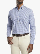 Load image into Gallery viewer, Peter Millar Sport Shirt Light Blue Plaid