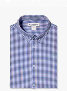 Mizzen+Main Leeward Pink and Blue Mini Check Trim Fit or Classic Fit
