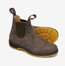 Load image into Gallery viewer, Blundstone Elastic Side Rustic Brown and Mustard