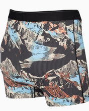 Load image into Gallery viewer, SAXX Quest Boxer Brief Black Mountain Scape